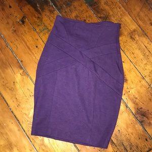 Purple Pencil mid length skirt